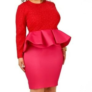 Plus size dress by Monif C. Lace, peplum, sexy
